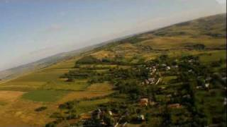 RC aerial video - village landscape in the morning HD