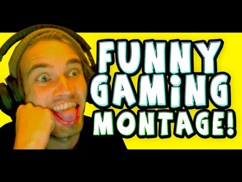 FUNNY GAMING MONTAGE | PewDiePie from YouTube · Duration:  4 minutes 48 seconds