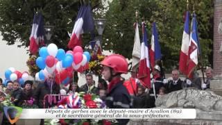 98ème anniversaire de l'armistice de 1918 - Édition 2016 à Avallon (89)