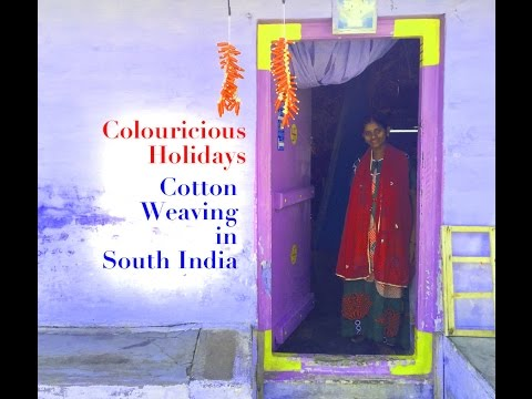 Hand Weaving Cotton Fabric Dhoti - Colouricious Textile Holiday to India