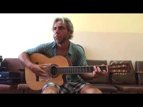 Голубые береты-Расплескалась синева-guitar cover Garri Pat