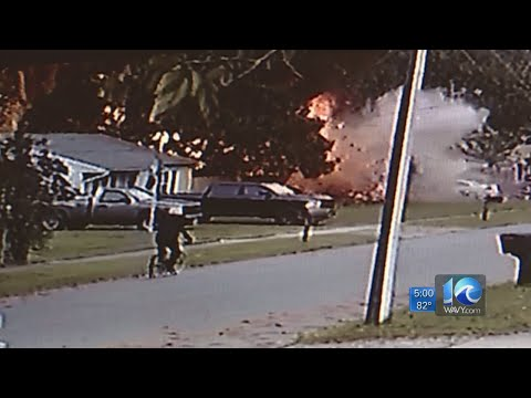 Caught on camera: Gas explosion at Chesapeake home leaves 9 injured