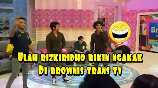 Bikin ngakak.....!!!  Rizkiridho di Brownis trans tv