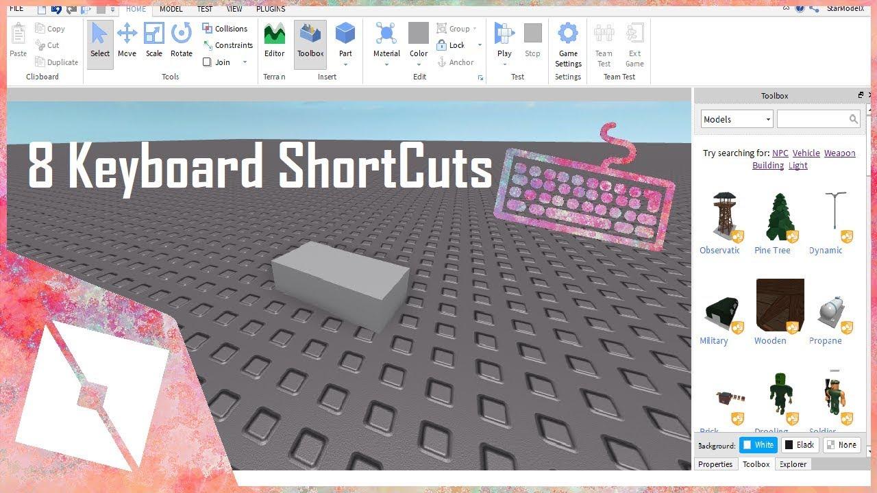ROBLOX Tutorial | 8 KeyBoard ShortCuts in ROBLOX Studio
