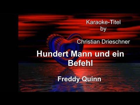Hundert Mann und ein Befehl - Freddy Quinn - Karaoke