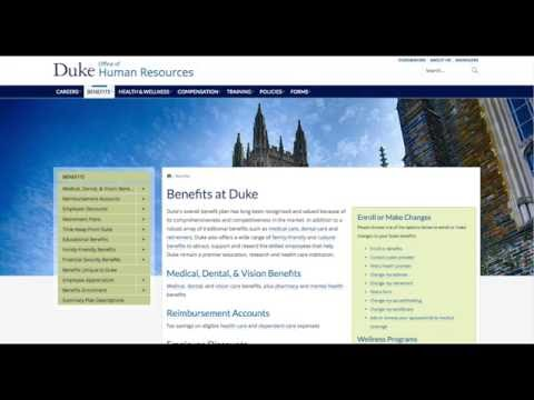 An Introduction to Duke University's New HR Site