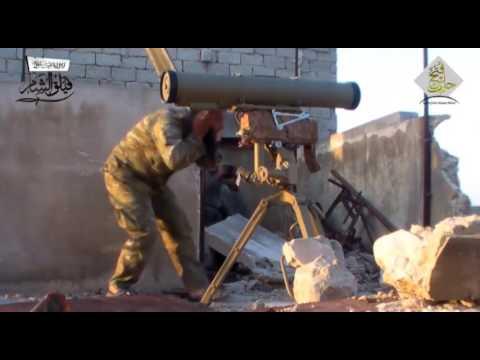 لحظة استهداف ثوار فيلق الشام لجنود روس بريف حلب الشمالي