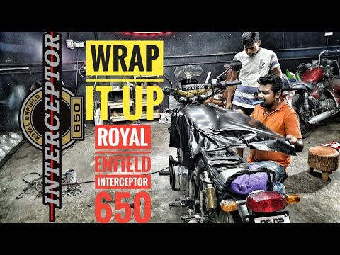 ROYAL ENFIELD INTERCEPTOR   Wrap and Colour change   ITS TIME FOR SOMETHING NEW   CARZSPA