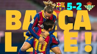 🔥 SECOND-HALF STUNNER! | BARÇA 5-2 REAL BETIS | Warm up & Match Center