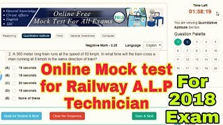 Railway online exam mock/Demo Test For Assistant loco pilot (ALP) and technician Exam 2018-2019