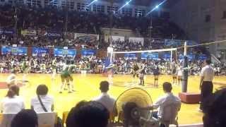 141028 unigames volleyball finals w dlsu nu set 2 1