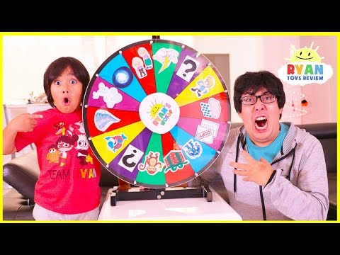 Ryan plays Magic Spin Wheel Kids Pretend Play fun