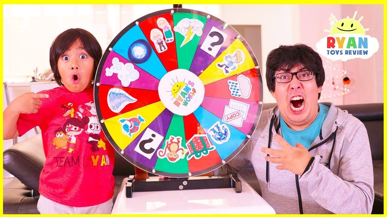 Ryan plays Magic Spin Wheel Kids Pretend Play fun!!!!