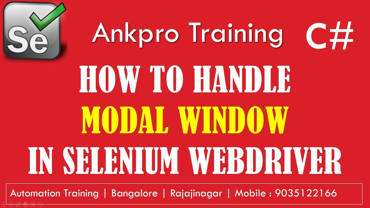 Selenium with C# 44 - How to handle modal window | How to switch bootstrap  modal pop up window
