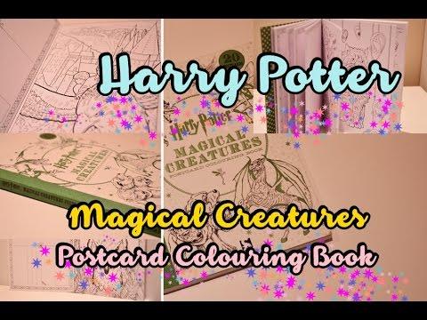 flip-through-|-harry-potter-magical-creatures-postcard-colouring-book
