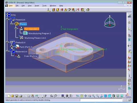 Tutorial virtual simulation of Milling machining using CATIA