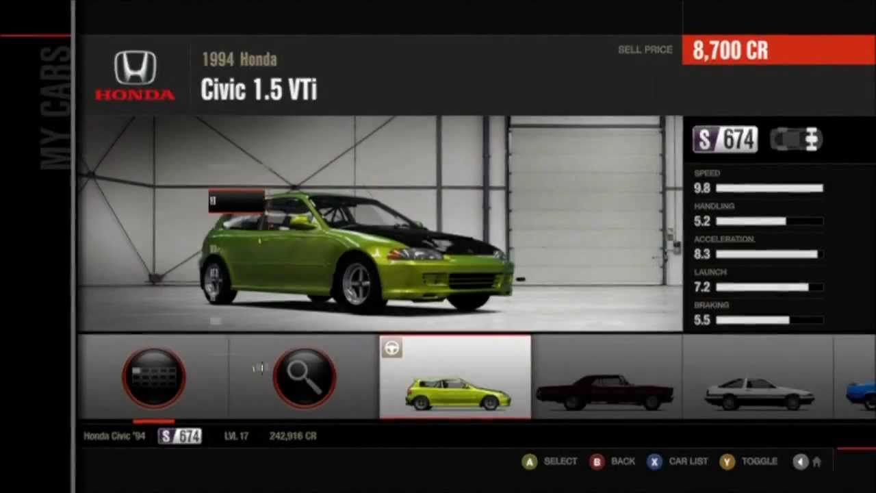 Forza 4 Civic Eg Hatchback Build Amp Test Run Youtube