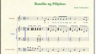 Bandila ng Pilipinas - Filipino Folk Song (Music Notation)