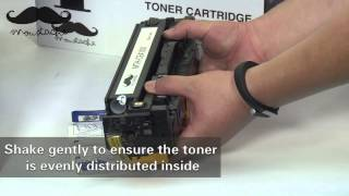 How to install Moustache 305A compatible toner cartridge for HP Laserjet Pro 400 by 123Ink.ca