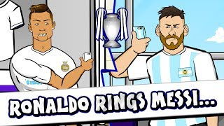 📞RONALDO rings MESSI for ADVICE!📞 (Parody Champions League Final 2018)