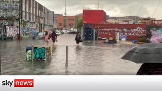 Two London hospitals hit by flooding declare 'major incidents'
