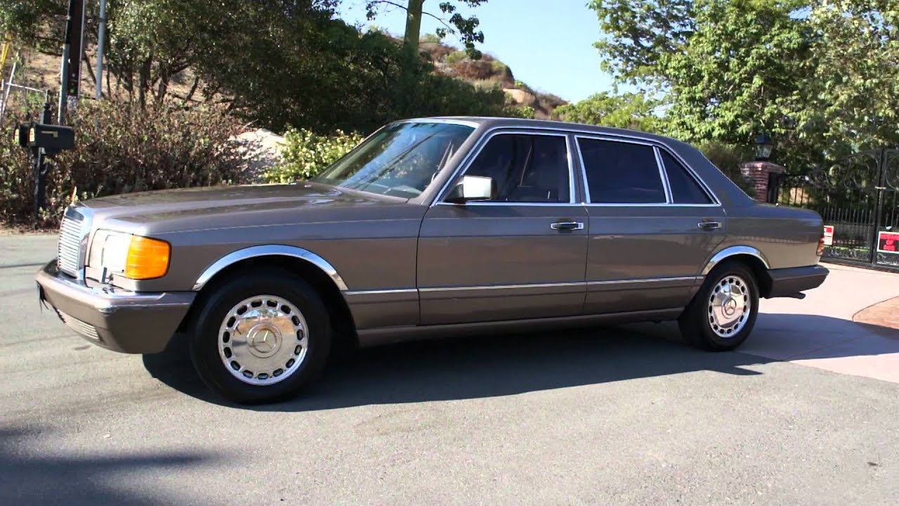 W126 mercedes benz 420sel s class 560sel 500 1 owner video for Video mercedes benz