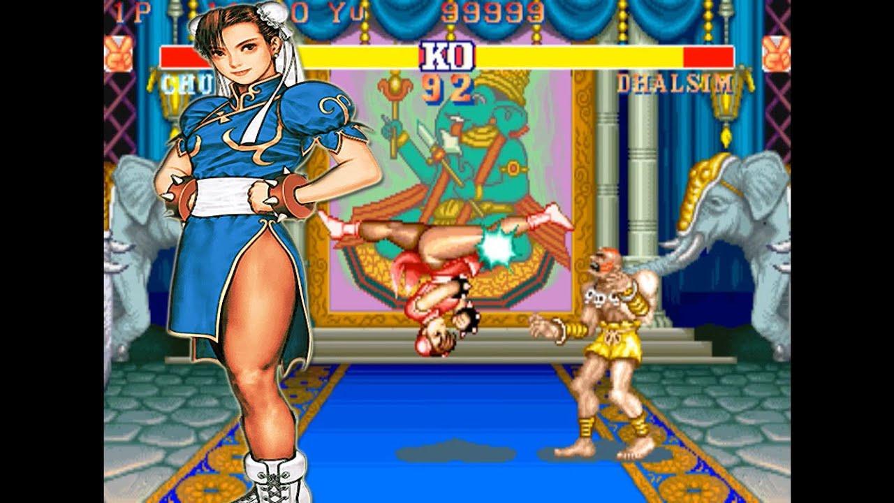 Street Fighter Chun Li Vs Dhalsim Chun Li Wins Just Using
