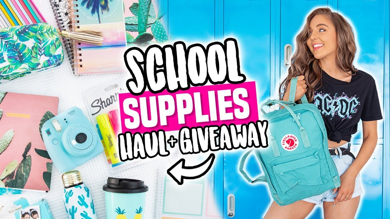 Back To School Supplies Haul + GIVEAWAY 2018!