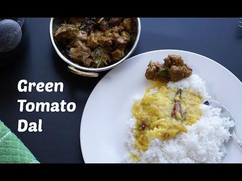 Green Tomato(Tomatillo) Dal  / Tomato pappu / Thakkali Paruppu Kootu
