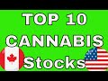 Top 10 Revenue Producing Cannabis Stocks in USA & Canada