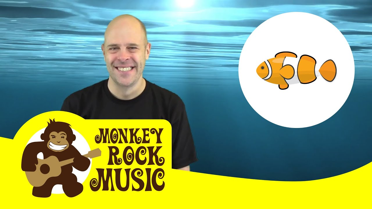 Slippery Fish Monkey Rock Music Kids Dance Songs Nursery Rhymes Youtube