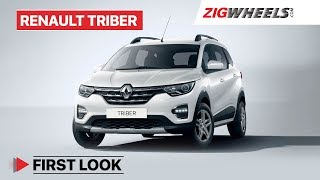 Renault Triber India First Look Review | Interiors, Features, Expected Price & More | ZigWheels.com