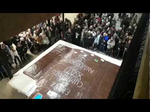Cuatro mil raciones de tarta para festejar los 18 años de la muralla como Bien Mundial