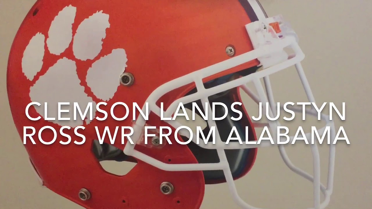 Clemson Signs Justyn Ross !!! WR from Alabama - YouTube