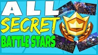Fortnite All 7 SECRET HIDDEN BATTLE STAR Locations - All Blockbluster Stars Challenges Season 4