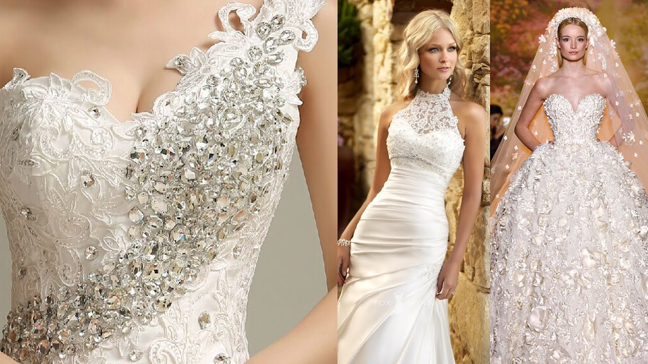 The Most Beautiful Wedding Dresses in The World - YouTube