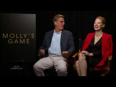 Jessica Chastain and Aaron Sorkin on Molly's Game at TIFF 2017