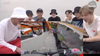 BTS BANGTAN  REACTION while watching terrain racing