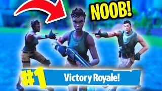 THE *NOOB* CHALLENGE in Fortnite Battle Royale!