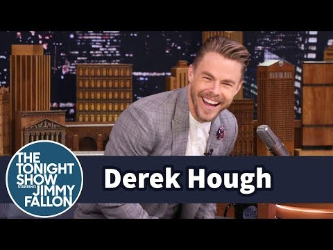 Derek Hough Tries to Dance Off Beat