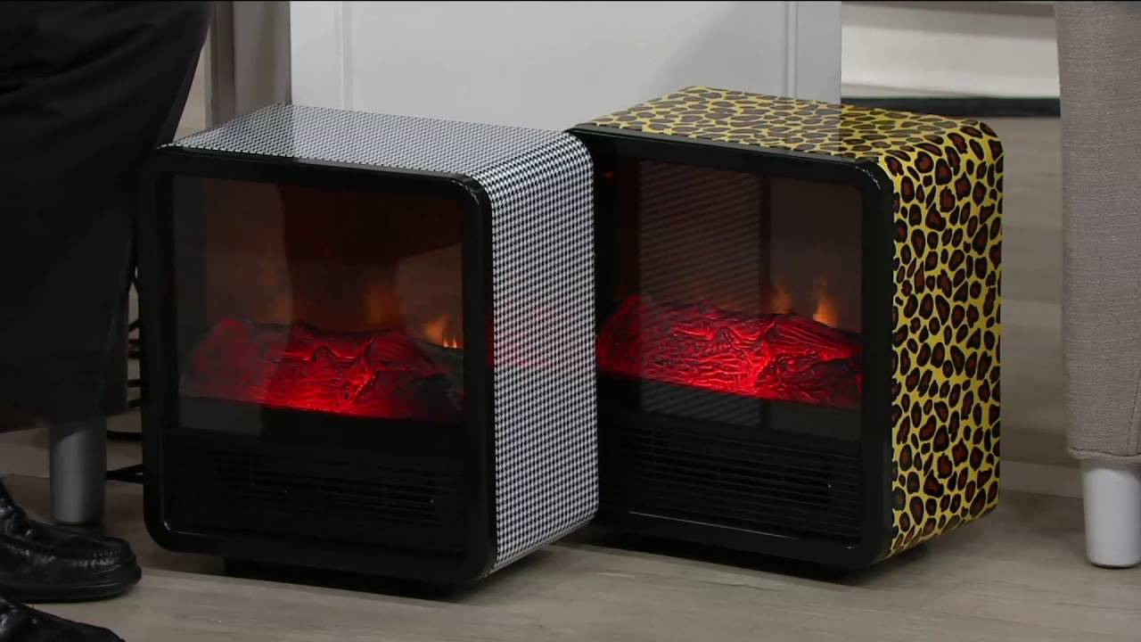 Lovely Duraflame 1500W Small Portable Heater With Realistic Flame Effect On QVC