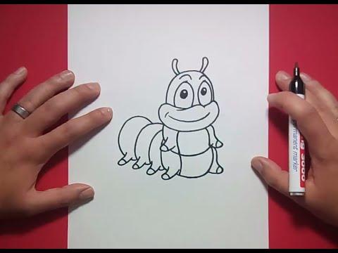 Como dibujar un gusano paso a paso 2  How to draw a worm 2  YouTube