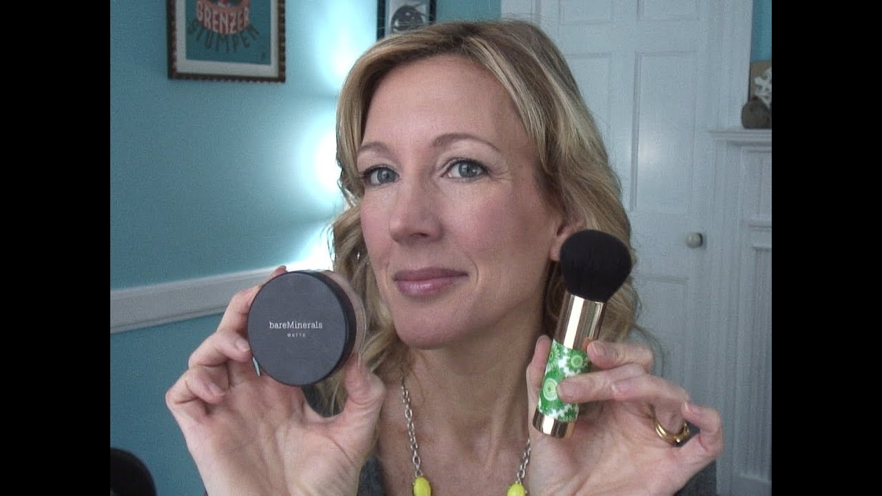 mineral foundation tutorial mature over 50 skin youtube