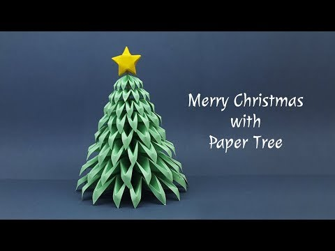 DIY Paper Christmas Tree Making at Home | Christmas Crafts Ideas