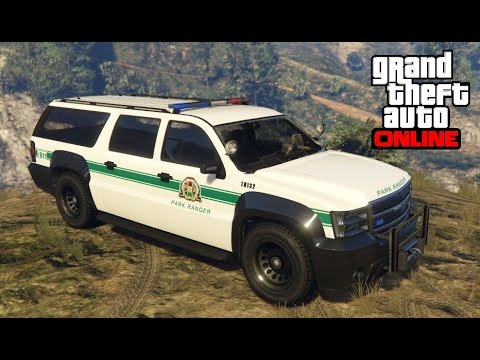GTA 5 Online - How to Find the Park Ranger SUV (Declasse Granger)
