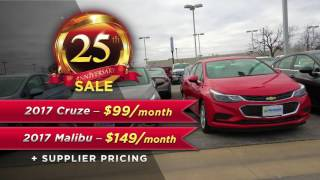 SUPPLIER PRICING at Pat McGrath Chevyland 25th Anniversary SALE