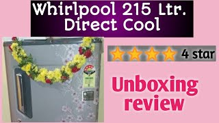 Whirlpool 215 L Direct cool Single Door 4 star Refrigerator with base drawer ll best refrigerator ll