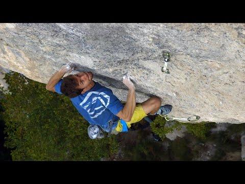 Stefano Ghisolfi Battles For Goldrake, 9a+, With An Injured Finger