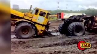 русские приколы с трактором
