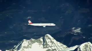 LOVE to FLY - formation flight with Airbus A321 overflying Austrian alps - must see!